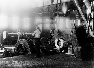 Black and white factory image