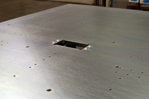 A custom fixture table built for a client. They provided the drawing, we provided the table.