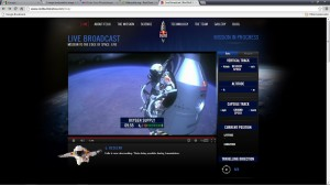 Screenshot of the Red Bull Stratos jump from Flickr user brewbooks
